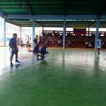 Jugadores de goalball en la cancha