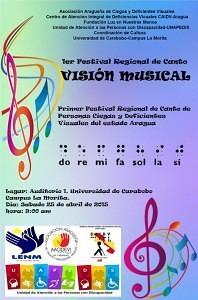 """Afiche del concurso """"Visión Musical"""" en La Morita, Abril 2015."""