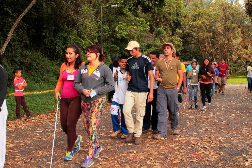 Campamento de montaña para invidentes 2015, Yacambú, Lara.