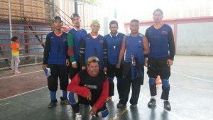 Algunos de los jugadores de Cojedes y Portuguesa