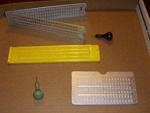Regletas de varios diseños y punzones.