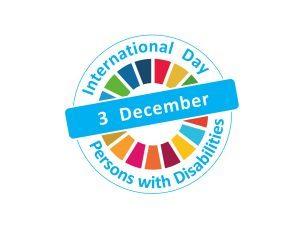 Logo del Día Internacional de las Personas con Discapacidad.