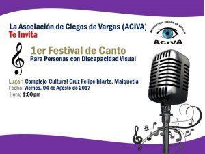 Afiche del festival de canto de ACIVA 2017.