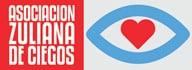 Logo de la Asociación Zuliana de Ciegos: silueta de un ojo color azul con un corazón rojo en el medio.