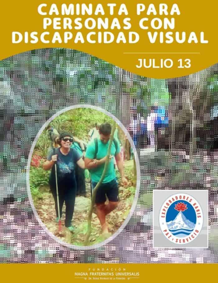 Afiche de la caminata al Ávila organizada por los Exploradores Karis, Julio 2019.